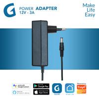 GALVEE Power Adaptor 12V - 3A for Led Strip up to 5 Meter / 5M