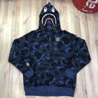 Bape 1st Camo Blue WGM Full Zip Hoodie Best NxN Quality