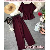S1 St Kulot Melisa Setelan Baju Fashion Wanita Premium Atasan + Celana