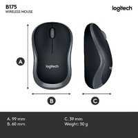 Logitech B175 Wireless Mouse NA01KO