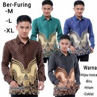 Baju Batik Pria Semi Sutra | Silky Lengan Panjang Lapis Furing