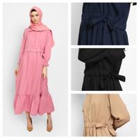 KAYSER NIHALA Fashion Muslim Baju Gamis Wanita Terbaru Dress - DUSTY PINK, all size