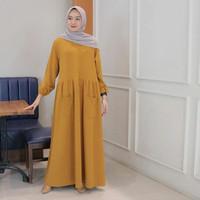 Baju Gamis Wanita Muslim Terbaru KALIS Dress Murah | Gamis Polos / Gam