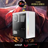 New PC Gaming Ryzen 3 3200G MSI A320M-A PRO MAX Terbaru Whit Corsair