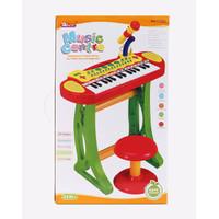 Piano organ anak musical baoli piano kursi mic microphone melody