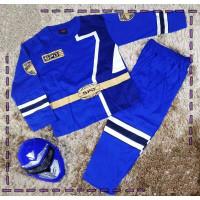 TERBARU kostum baju anak power rangers biru / baju main super hero