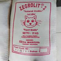 pasir kucing zeolit 25kg khusus ojek