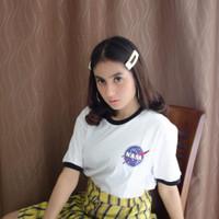 Arigo T-shirt Nasa Ringer White - Putih, S