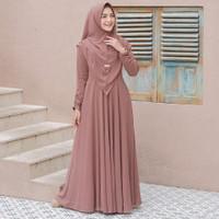 Gamis syari terbaru Baju Gamis Wanita Muslim Terbaru Maira Syari Polos