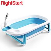 Right Start Heat Sensor Mega White Hot Baby Folding Bath Tub
