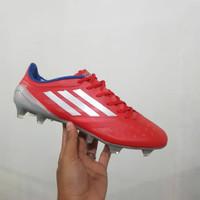 Sepatu Bola Adidas F50 X 99.1 Red Stripes Silver FG