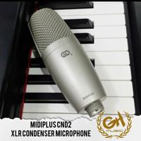 mic midiplus cnd2 xlr condenser microphone recording podcast asmr