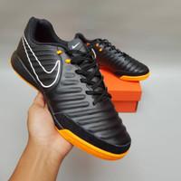 Sepatu Futsal Nike Tiempo X Finalle Black Orange IC