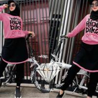 setelan baju olahraga dewasa wanita sepeda/setelan olahraga muslimah