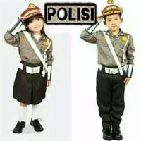 Baju Seragam Profesi Polisi Cilik Anak Laki-laki Perempuan Polwan Unik