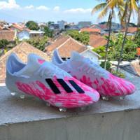 Sepatu Bola Adidas X19.1 White Pink FG