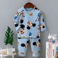 Piyama / Baju tidur anak import motif mickey umur 1- 9 tahun.