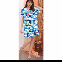 baju tidur murah wanita piyama/pp/cp/hp/dst doraemon kotak - dst doraemon
