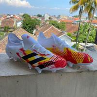 Sepatu Bola Adidas Predator Mutator 20.1 White Red FG