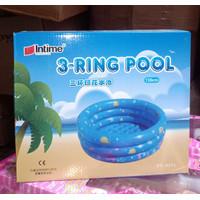 Kolam renang anak baby spa pool 3 ring intime 130cm bulat mandi bola