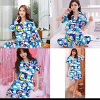 baju tidur murah wanita piyama/pp/cp/hp/dst doraemon kotak