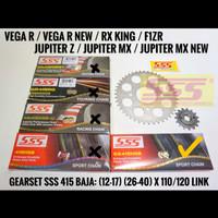 GIRSET SSS RX KING/FIZR/JUPITER Z/MX/VEGA R BAJA 415 RANTAI GOLD HSB