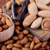 kacang almond 1 kg almond roasted