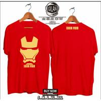 Kaos Baju IRON MAN Kaos Superhero MARVEL COMIC - Gilan Cloth