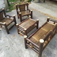 bangku bambu- kursi bambu - bale bambu paket satu set - GRATIS ONGKIR