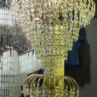 lampu gantung kristal panjang