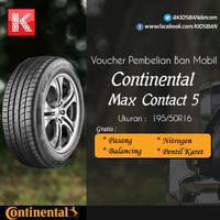 Ban Mobil Continental Max Contact 5 195/50R16 Vocer