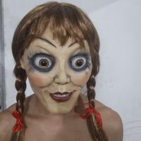 TOL-15 topeng latex karet full head kepala annabelle hantu halloween