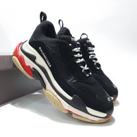 Sepatu Sneakers Balenciaga Triple S Black Red White