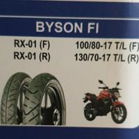 ban luar irc tubeless 130/70-17 rx01r & 100/80-17 rx01f (byson f1)