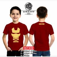 Kaos Baju Anak IRON MAN Kaos Anak Superhero MARVEL COMIC - Gilan Cloth