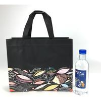 Tas Hadiah Goodie Bag Motif Black Elegan Fish Ikan Kanvas
