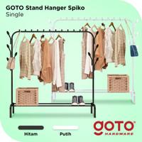 Goto Spiko Stand Hanger Single Rak Besi Gantungan Baju Pakaian