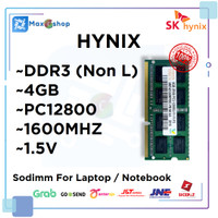 RAM LAPTOP DDR3 4GB HYNIX PC12800 1.5V (Non L) DDR 3 4 GB SODIMM ORI