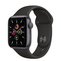 Apple Watch SE 40mm Space Gray Aluminum Case Black Sport Band / Loop