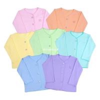 Miabelle Baju Panjang Kancing Depan Polos Newborn