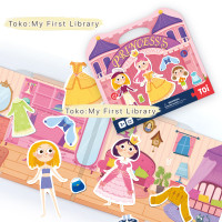 Toi magnetic book magnetik buku mainan anak Princess ganti baju panpan