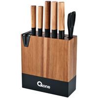 OXONE OX984 5 Pcs Acacia Knife Set With Wood Block Wooden/Pisau Set