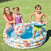 G34 Kolam Renang Anak SET BONUS Bola dan Ban Fishbowl Pool IN