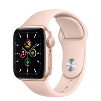 Apple Watch SE 40mm Gold Aluminum Case with Pink Sport Band / Loop