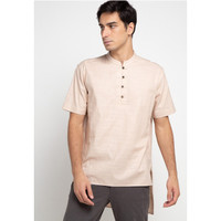 EDITION MEN ESS73 SAND Short Sleeve Woven Tunic
