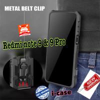 Case Redmi Note 9 / 9 PRO Case Armor Belt Clip Pinggang New Xiaomi