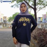 Baju Kaos Suporter Arema FC Aremania murah bahan katun mboissam kc22