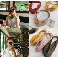 Bandana Korea Style / Bando Rambut / Bando Fashion Ikat - Cokelat