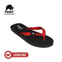 Fipper Classic / Sandal Jepit Unisex / Black Red