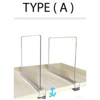 Akrilik pembatas meja/ ACRYLIC PARTISI Transparan Type A 5mm - 40cm x 60cm